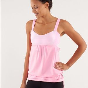 Lululemon Run: Back on Track Tank in Pink